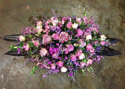 Rouwstuk paars/roze