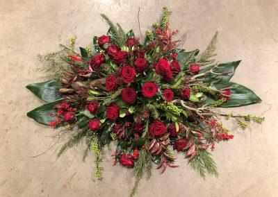 rode rozen rouwstuk