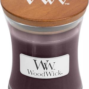 Woodwick geurkaars 'Black Plum Cognac '