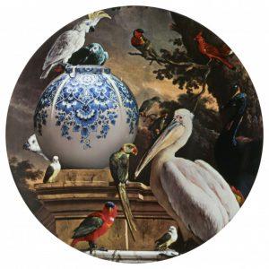 Wandbord pelikaan